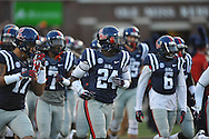 Ole Miss Rebels linebacker Keith Lewis (24) vs. Tennessee at Vaught-Hemingway Stadium in Oxford, Miss. on Saturday, October 18, 2014.