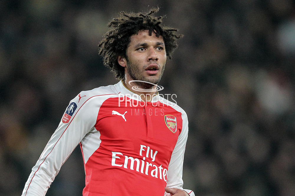 Mohamed Elneny (Arsenal) during the The FA Cup fifth round match between Hull City and Arsenal at the KC Stadium, Kingston upon Hull, England on 8 March 2016. Photo by Mark P Doherty.