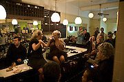 BURLESQUE SHOW FROM SKINKY SPARKLEY AND TRIXIE MALICIOUS. , book launch for 'Private Collection' by Danny Moynihan. Hix Oyster and Chop House. Cowcross st. London. 12 June 2008. *** Local Caption *** -DO NOT ARCHIVE-© Copyright Photograph by Dafydd Jones. 248 Clapham Rd. London SW9 0PZ. Tel 0207 820 0771. www.dafjones.com.
