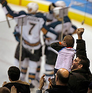 TREVOR HAGAN - A young Moose fan wasn't happy about the fog horn inside MTS Centre after Marco Rosa scored to make it 2-1 Moose during the second period. <br /> January 9, 2010