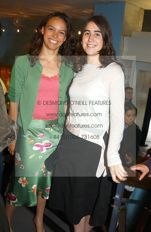 Left to right, HARRIET OWLES and the HON.HARRIET WALDEGRAVE daughter of William Waldegrave at a performance by the London Childrens Ballet of 'The Little Princess' at The Peacock Theatre, Portugal Street, London WC2 on 19th May 2005.<br /><br />NON EXCLUSIVE - WORLD RIGHTS