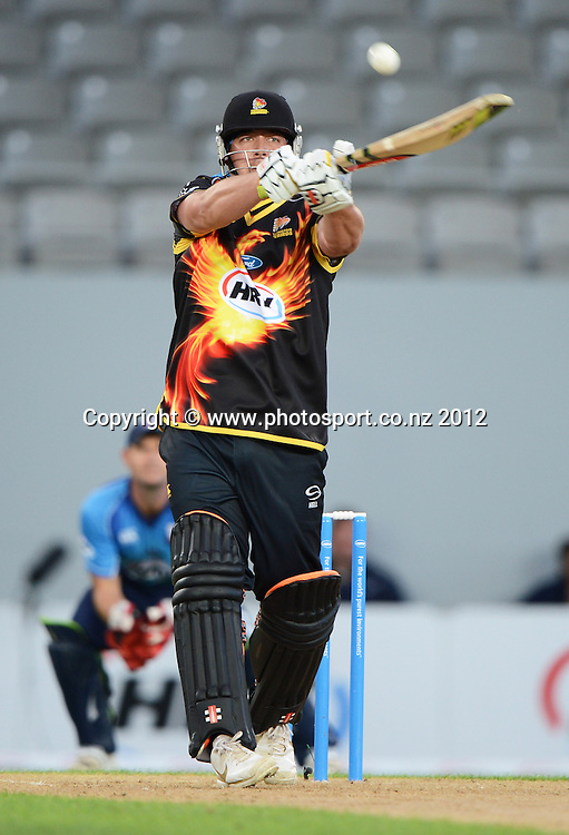 Jesse Ryder during the HRV Cup Twenty20 Cricket match between Auckland Aces and Wellington Firebirds at Eden Park on Friday 28 December 2012. Photo: Andrew Cornaga/Photosport.co.nz