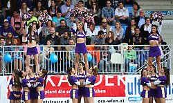 17.05.2015, Hohe Warte, Wien, AUT, BIG6, AFC Vienna Vikings vs Schwaebisch Hall Unicorns, im Bild Purple Allstars (AFC Vienna Vikings Cheerleader, Cheer Seniors) // during the BIG6 game between AFC Vienna Vikings vs Schwaebisch Hall Unicorns at the Hohe Warte, Wien, Austria on 2015/05/17. EXPA Pictures © 2015, PhotoCredit: EXPA/ Thomas Haumer
