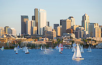 Sailboats on Lake Union Seattle Washington&#xA;<br />