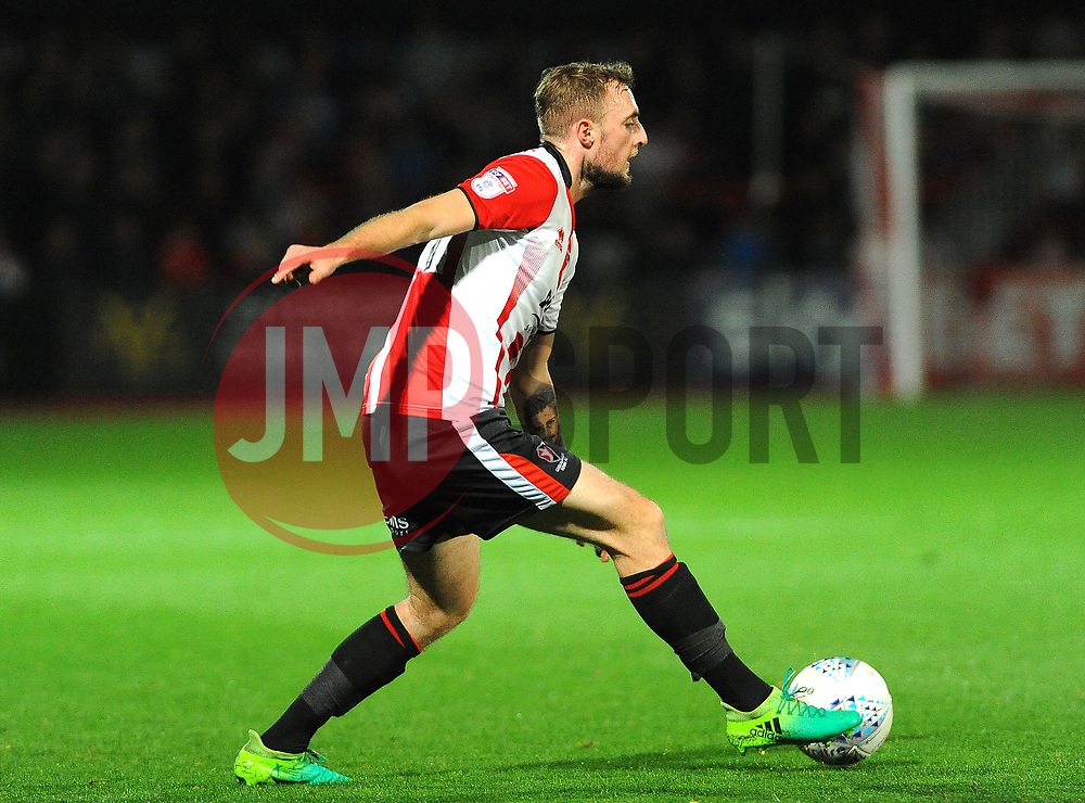 Carl Winchester of Cheltenham Town in action - Mandatory by-line: Nizaam Jones/JMP- 17/10/2017 - FOOTBALL - LCI Rail Stadium - Cheltenham, England - Cheltenham Town v Grimsby Town - Sky Bet League Two