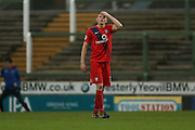 York City defender, on loan from Huddersfield Town, William Boyle  during the Sky Bet League 2 match between Yeovil Town and York City at Huish Park, Yeovil, England on 2 January 2016. Photo by Simon Davies.
