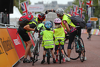 LONDON UK 30TH JULY 2016:  The Mall and Admiralty Arch. The Prudential RideLondon FreeCycle event over closed roads around the city. Prudential RideLondon in London 30th July 2016.<br /> <br /> Photo: Eddie Keogh/Silverhub for Prudential RideLondon<br /> <br /> Prudential RideLondon is the world&rsquo;s greatest festival of cycling, involving 95,000+ cyclists &ndash; from Olympic champions to a free family fun ride - riding in events over closed roads in London and Surrey over the weekend of 29th to 31st July 2016. <br /> <br /> See www.PrudentialRideLondon.co.uk for more.<br /> <br /> For further information: media@londonmarathonevents.co.uk
