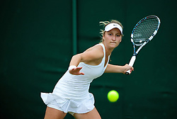 30.06.2014, All England Lawn Tennis Club, London, ENG, WTA Tour, Wimbledon, im Bild Marketa Vondrousova (CZE) // 15065000 during the Wimbledon Championships at the All England Lawn Tennis Club in London, Great Britain on 2014/06/30. EXPA Pictures © 2014, PhotoCredit: EXPA/ Propagandaphoto/ David Rawcliffe<br /> <br /> *****ATTENTION - OUT of ENG, GBR*****