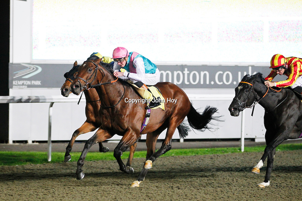 Defendant and James Doyle winning the 7.20 race