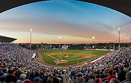 [Note:  This panorama photo was created by sticthing together several exposures during post-production] A general view of Hammond Stadium during a spring training game between the Pittsburgh Pirates and the Minnesota Twins in Ft. Myers, Florida on March 13, 2013.