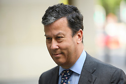 © Licensed to London News Pictures. 26/05/2016. London, UK. DAVID DE FREITAS arrives at Westminster Magistrates Court in London. Alexander Economou, the son of shipping magnate Angelo Economou, is appearing at Westminster Magistrates charged with harassing David de Freitas, whose daughter Eleanor de Freitas killed herself after she alleged rape against Alexander Economou. Photo credit: Ben Cawthra/LNP