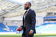 Southampton midfielder Nathan Redmond (22) pitch warm up during the Premier League match between Brighton and Hove Albion and Southampton at the American Express Community Stadium, Brighton and Hove, England on 30 March 2019.