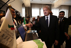 April 25, 2017 - Algiers, Algeria - Prime Minister, Abdelmalek Sellal at the El-Aurassi hotel at the Algeria Forum for emerging companies, in Algiers, Algeria, on April 25, 2017. (Credit Image: © Billal Bensalem/NurPhoto via ZUMA Press)