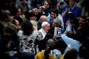 Vatican City jan 20th 2016, weekly general audience. In the picture pope Francis