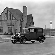 1927 Erskine Club Sedan photographed near South Bend's modern-day Morris Park Country Club.  This image is at the corner of Ironwood and Cedar streets.