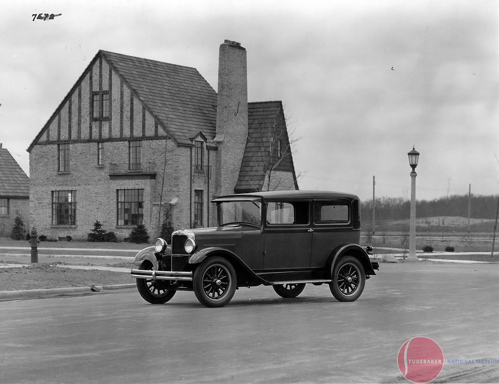 1927 Erskine Club Sedan near South Bend, Indiana's Sunnymeade neighborhood.