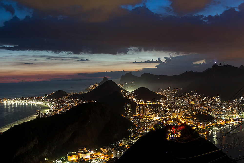 View of the beautiful Rio De Janeiro from Sugar Loaf