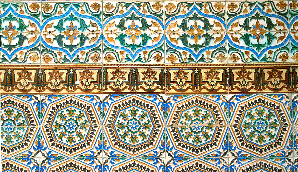 SPAIN, CASTILE, SEGOVIA Alcazar Castle; Ferdinand and Isabel; tiles
