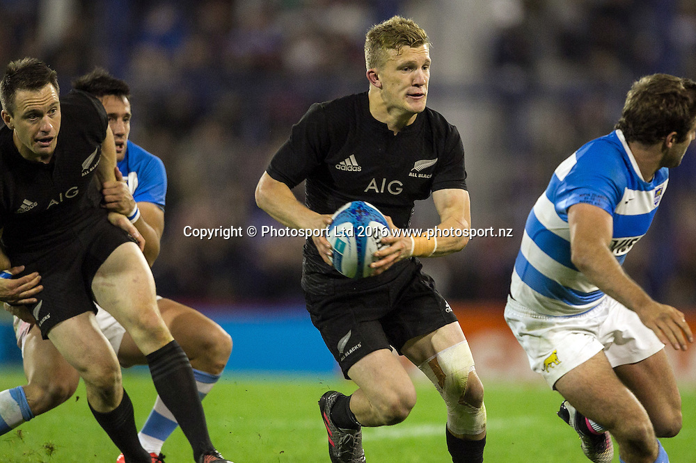 Damian McKenzie.<br /> Buenos Aires (ARGENTINA), Oct. 1, 2016:International Test Match between Argentina v New Zealand during the Rugby Championship at Estadio Jose Amalfitani, on Saturday, Oct. 1, 2016 in Buenos Aires, Argentina. Copyright photo: Pablo Gasparini / www.photosport.nz