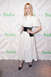 Elle Fanning at the 2019 Hulu Upfront in New York City.