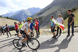 Michal Kwiatkowski (POL) Team Sky climbs Col d'Izoard during Stage 18 of the 104th edition of the Tour de France 2017, running 179.5km from Briancon to the summit of Col d'Izoard, France. 20th July 2017.<br /> Picture: Eoin Clarke | Cyclefile<br /> <br /> All photos usage must carry mandatory copyright credit (© Cyclefile | Eoin Clarke)
