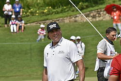 October 15, 2017 - Kuala Lumpur, MALAYSIA - Pat Perez of USA Pat Perez of USA reacts after the buddy on 4th hall during the CIMB Classic 2017 day 4 on October 15, 2017 at TPC Kuala Lumpur, Malaysia. (Credit Image: © Chris Jung via ZUMA Wire)