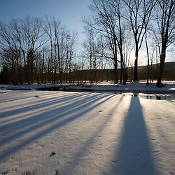 The Ashuelot River in Surry, New Hampshire in winter.