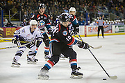 KELOWNA, CANADA - OCTOBER 26:  Nick Merkley #10 of the Kelowna Rockets skates with the puck at the Kelowna Rockets game on October 26, 2016 at Prospera Place in Kelowna, British Columbia, Canada.  (Photo By Cindy Rogers/Nyasa Photography,  *** Local Caption ***  Jared Dmytriw #27 of the Victoria Royals