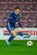 Glenn Middleton (#11) of Scotland U21 (Hibernian) during the U21 UEFA EUROPEAN CHAMPIONSHIPS match between U21 Scotland and U21 Greece at Tynecastle Park, Edinburgh, Scotland on 15 November 2019.