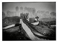 The Great Wall replica, Splendid China theme park, Shenzhen, China.