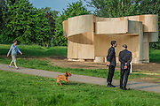 Summer Houses this one designed by Barkow Leibinger - The Serpentine Pavilion, designed by Bjarke Ingels Group (BIG) and four specially conceived Summer Houses designed by Kunlé Adeyemi (NLÉ), Barkow Leibinger, Yona Friedman, Asif Khan. They are an addition to the Serpentine's Architecture Programme, which commissions international architects to design a structure as an exhibition of architecture in the built-form.