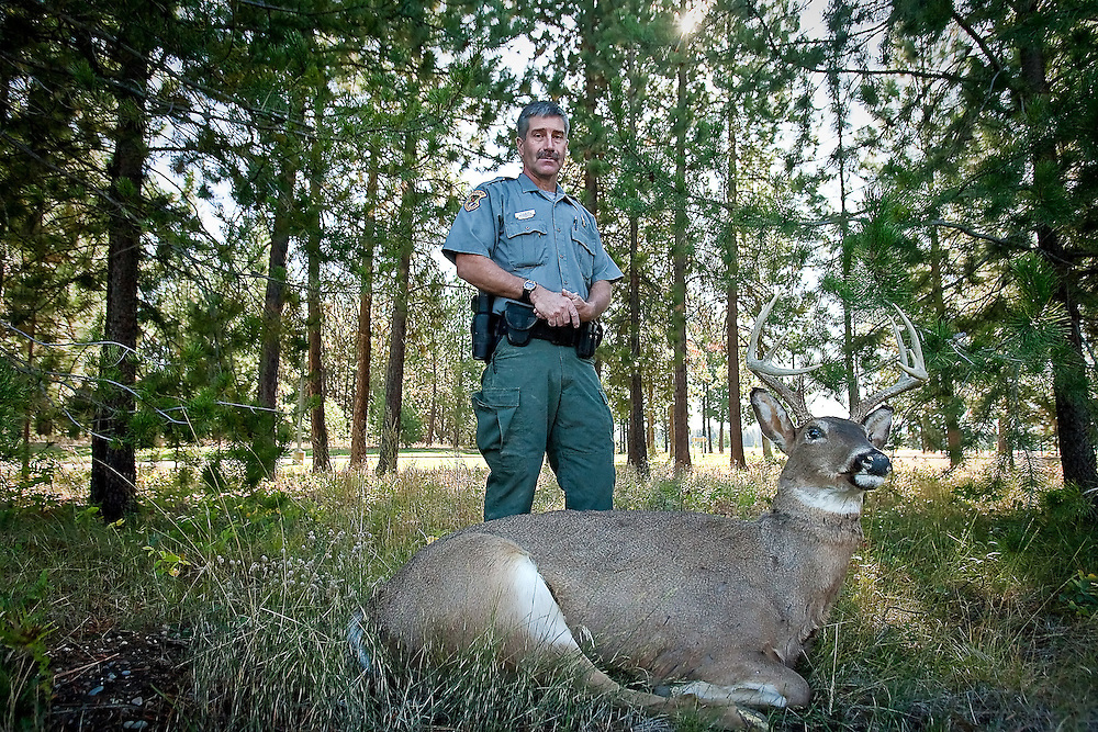 JEROME A. POLLOS/Press..Rick Bogar is a conservation officer with Idaho Fish & Game and has worked in North Idaho for the past decade investigating poaching and other hunting related crimes.