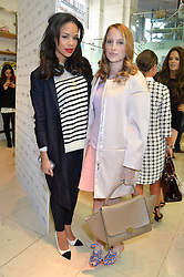 Left to right, SARAH-JANE CRAWFORD and ROSIE FORTESCUE at a party to celebrate the launch of French Connection's #CANTHELPMYSELFIE -The UK's first in-store interactive selfie booths and windows held at French Connection, 249-251 Regent Street, London on 15th April 2014.
