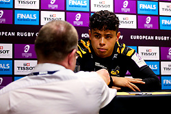 Jacob Umaga of Wasps Wasps in the post match press conference after the win against Agen - Mandatory by-line: Robbie Stephenson/JMP - 23/11/2019 - RUGBY - Ricoh Arena - Coventry, England - Wasps v Agen - European Rugby Challenge Cup