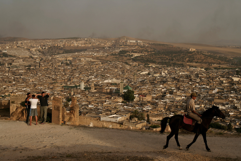 From the Borj Nord near the Merenid Tombs there is a magnificent view over Fez Medina.