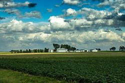 Clouds - left over remnants from Tropical Storm Cristobal, make for some cool cloudscapes over different rural terrain in Central Illinois