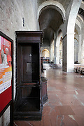 confessional with a announcement poster Italy