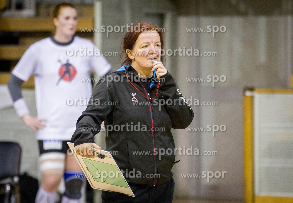 Head coach Marta Bon during practice session of Slovenian Women handball National Team three days before match against Serbia, on October 24, 2013 in Arena Tivoli, Ljubljana, Slovenia. (Photo by Vid Ponikvar / Sportida)