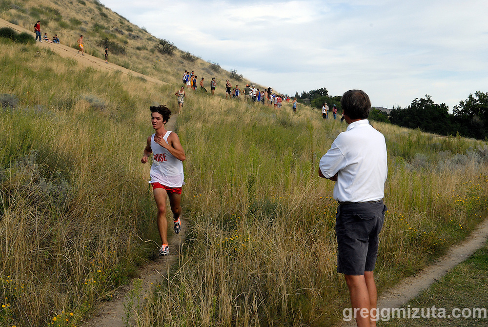 Boise junior Kenton Freemuth during the Camelsback Classic at Boise, ID on August 28, 2009. Freemuth, Boise's first finisher, placed sixth overall with a time of 17:51.3.