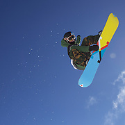 Taylor Gold, USA, in action during the Men's Half Pipe Finals in the LG Snowboard FIS World Cup, during the Winter Games at Cardrona, Wanaka, New Zealand, 28th August 2011. Photo Tim Clayton.