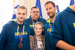 "during award ceremony ""Zlati red za zasluge"" for Basketball association of Slovenia on the day of statehood in the presidential palace, on June 25, 2018 in Ljubljana, Slovenia. Photo by Urban Urbanc / Sportida"
