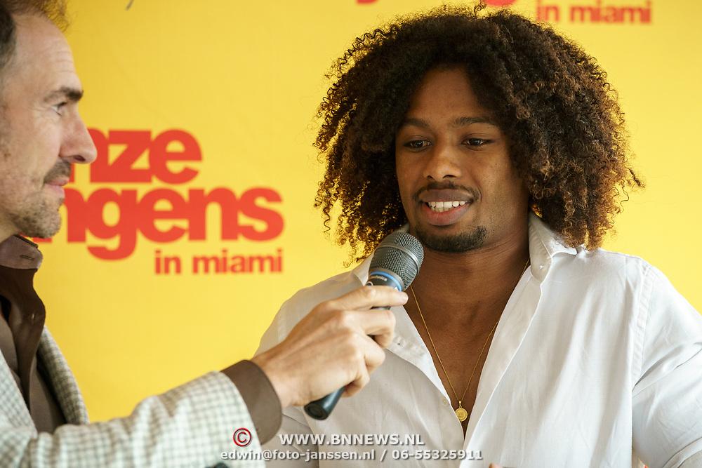NLD/Amsterdam/20190501 - Perspresentatie cast Onze Jongens in Miami, Malik Mohammed