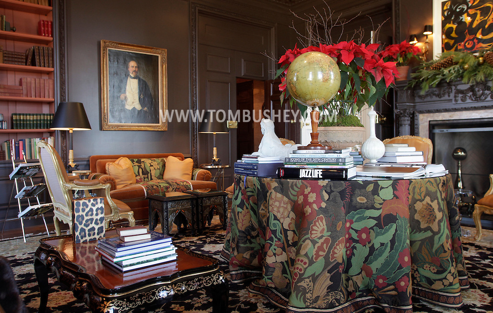 A view of the black room at the Glenmere Mansion in Chester on Thursday, Dec. 17, 2009.