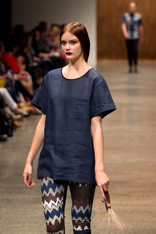 Salasai Collection at New Zealand Fashion Week, 2012, Auckland, New Zealand, Thursday, September 06, 2012.  Credit:SNPA / David Rowland