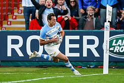 Argentina Winger Juan Imhoff scores a try - Mandatory byline: Rogan Thomson/JMP - 07966 386802 - 25/09/2015 - RUGBY UNION - Kingsholm Stadium - Gloucester, England - Argentina v Georgia - Rugby World Cup 2015 Pool C.