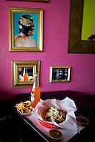 Taco at Lucha libre Taco Shop in San Diego, California