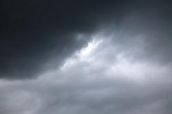 Dark rain clouds,