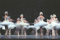 Royal ballet in the snow scene of Sir Peter Wright's Nutcracker.<br />