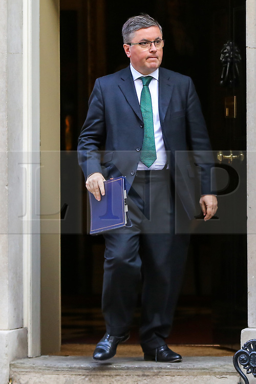 © Licensed to London News Pictures. 17/09/2019. London, UK. Justice Secretary ROBERT BUCKLAND QC departs from No 10 Downing Street after attending the weekly Cabinet Meeting. Photo credit: Dinendra Haria/LNP