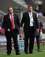 Photo: Paul Thomas.<br /> Bolton Wanderers v Liverpool. The Barclays Premiership. 30/09/2006.<br /> <br /> Bolton manager Sam Allardyce (R) and Liverpool manager Rafael Benitez.